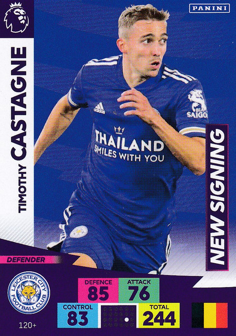 #120+ Timothy Castagne (Leicester City) Adrenalyn XL Premier League PLUS 2020/21 NEW SIGNINGS