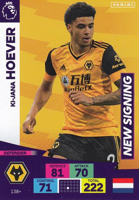 #138+ Ki-Jana Hoever (Wolverhampton Wanderers) Adrenalyn XL Premier League PLUS 2020/21 NEW SIGNINGS