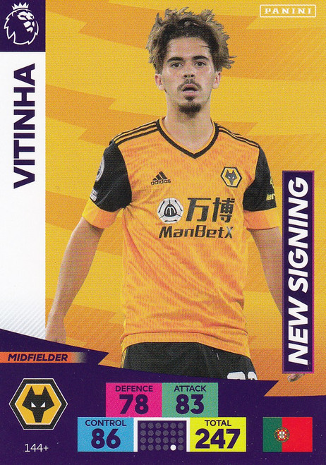 #144+ Vitinha (Wolverhampton Wanderers) Adrenalyn XL Premier League PLUS 2020/21 NEW SIGNINGS