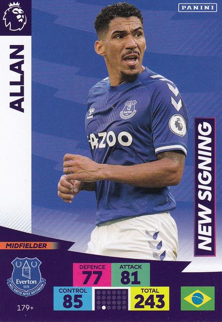 #179+ Allan (Everton) Adrenalyn XL Premier League PLUS 2020/21 NEW SIGNINGS