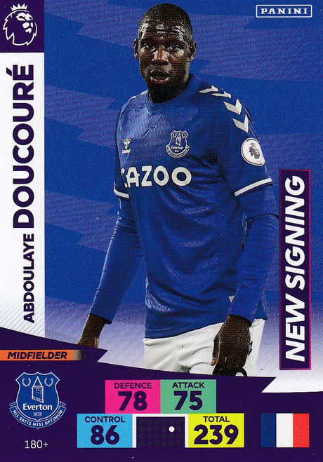 #180+ Abdoulaye Doucoure (Everton) Adrenalyn XL Premier League PLUS 2020/21 NEW SIGNINGS