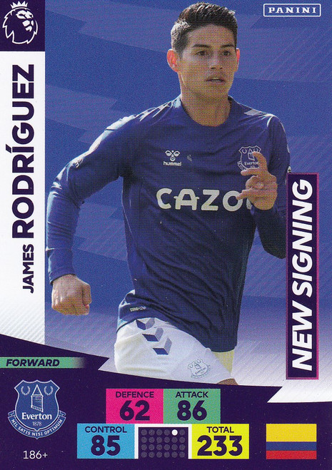 #186+ James Rodriguez (Everton) Adrenalyn XL Premier League PLUS 2020/21 NEW SIGNINGS