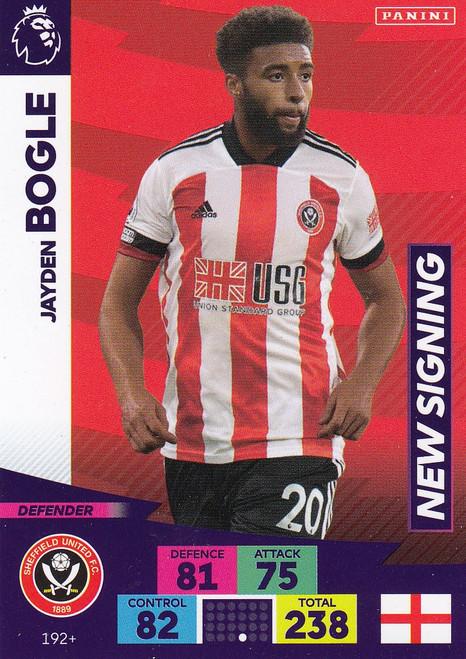 #192+ Jayden Bogle (Sheffield United) Adrenalyn XL Premier League PLUS 2020/21 NEW SIGNINGS
