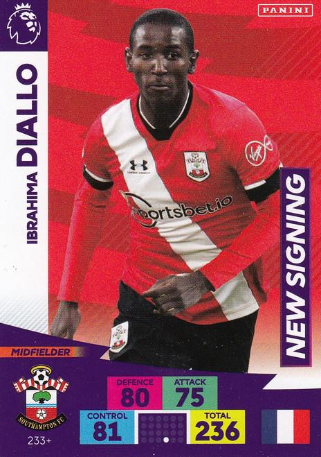 #233+ Ibrahima Diallo (Southampton) Adrenalyn XL Premier League PLUS 2020/21 NEW SIGNINGS