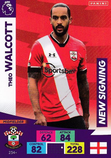 #234+ Theo Walcott (Southampton) Adrenalyn XL Premier League PLUS 2020/21 NEW SIGNINGS