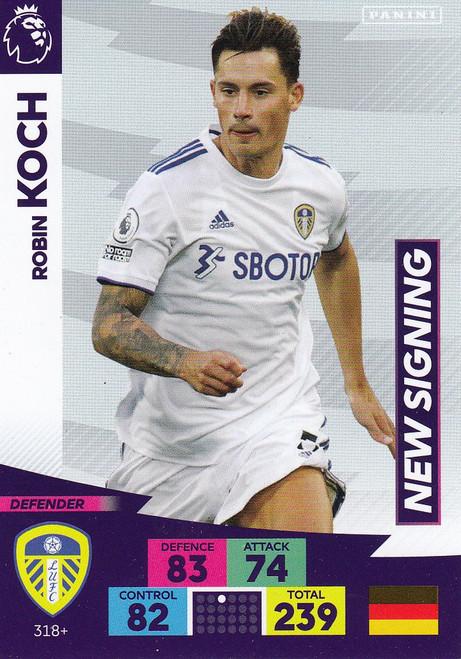 #318+ Robin Koch (Leeds United) Adrenalyn XL Premier League PLUS 2020/21 NEW SIGNINGS