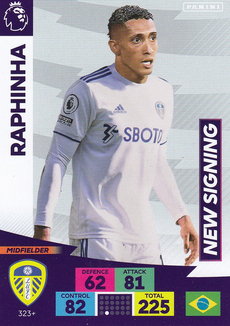 #323+ Raphina (Leeds United) Adrenalyn XL Premier League PLUS 2020/21 NEW SIGNINGS