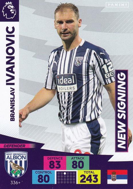 #336+ Branislav Ivanovic (West Bromwich Albion) Adrenalyn XL Premier League PLUS 2020/21 NEW SIGNINGS