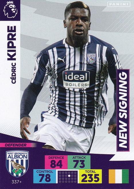 #337+ Cedric Kipre (West Bromwich Albion) Adrenalyn XL Premier League PLUS 2020/21 NEW SIGNINGS