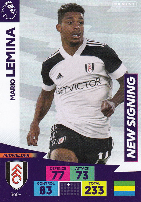 #360+ Mario Lemina (Fulham) Adrenalyn XL Premier League PLUS 2020/21 NEW SIGNINGS