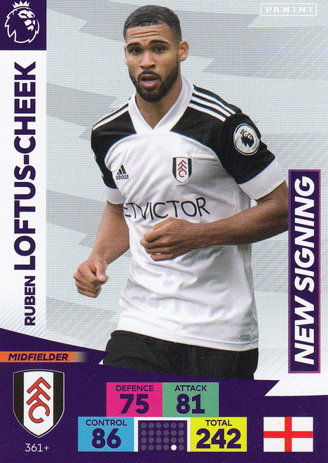 #361+ Ruben Loftus-Cheek (Fulham) Adrenalyn XL Premier League PLUS 2020/21 NEW SIGNINGS