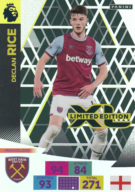 WEST HAM UNITED - Declan Rice Adrenalyn XL Premier League PLUS 2020/21 LIMITED EDITION