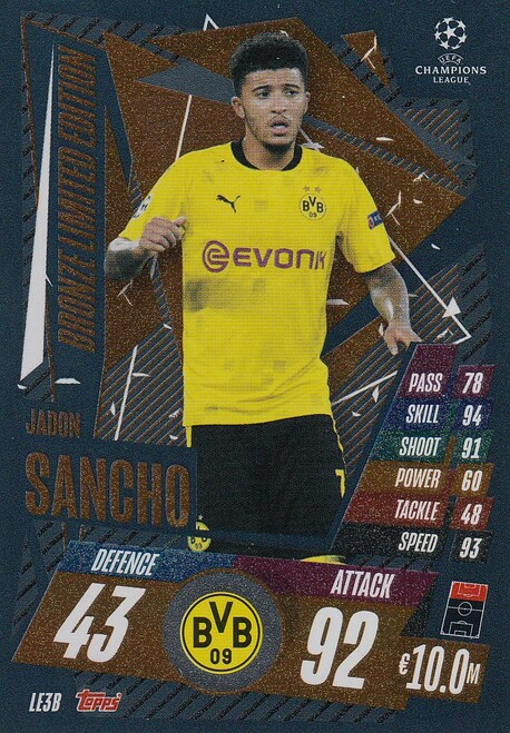 #LE3B Jadon Sancho (Borussia Dortmund) Match Attax EXTRA 2020/21 BRONZE