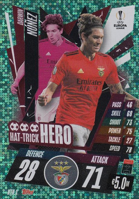 #HTH1 Darwin Núñez (SL Benfica) Match Attax EXTRA 2020/21 HAT-TRICK HERO