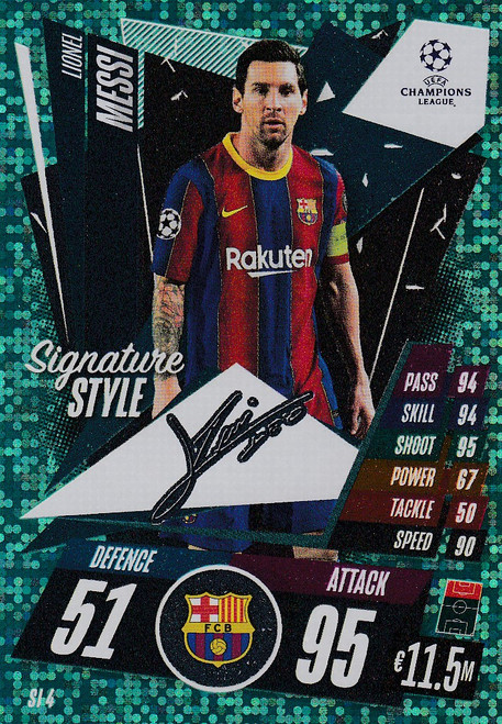 #SI4 Lionel Messi (FC Barcelona) Match Attax EXTRA 2020/21 SIGNATURE STYLE