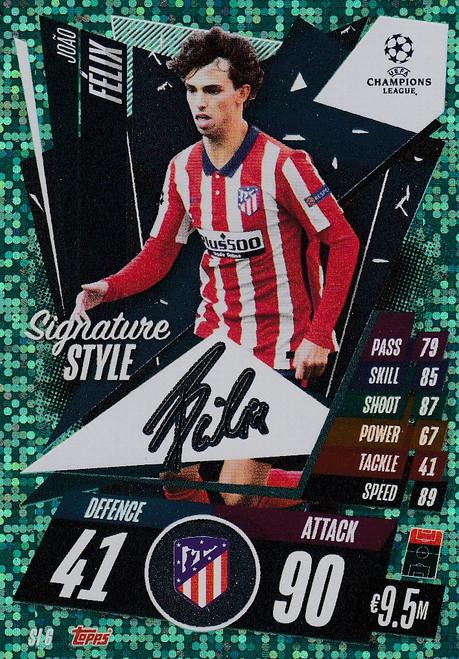 #SI6 Joao Felix (Atletico De Madrid) Match Attax EXTRA 2020/21 SIGNATURE STYLE