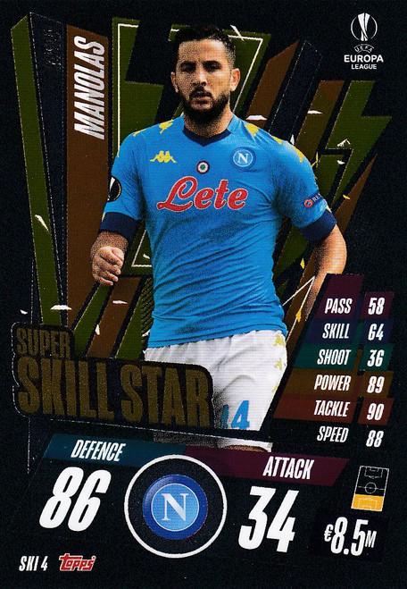 #SKI4  Kostas Manolas (SSC Napoli) Match Attax EXTRA 2020/21 SUPER SKILL STAR