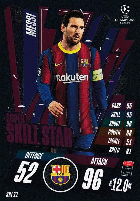 #SKI11 Lionel Messi (FC Barcelona) Match Attax EXTRA 2020/21 SUPER SKILL STAR