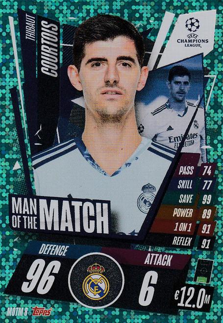 #MOTM8 Thibaut Courtois (Real Madrid CF) Match Attax EXTRA 2020/21 MAN OF THE MATCH