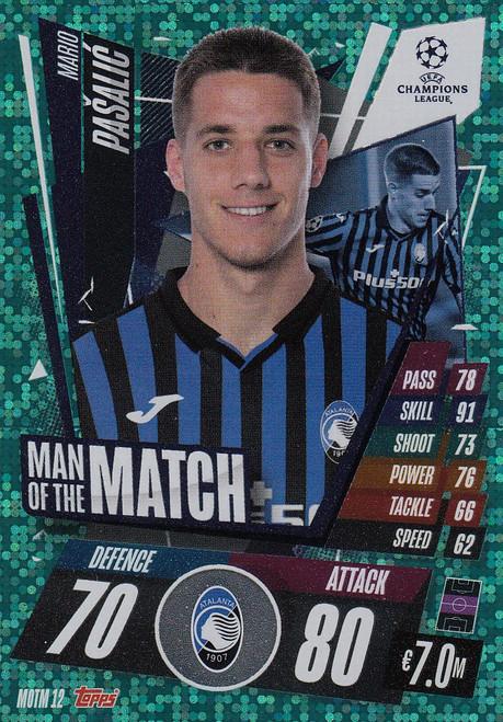 #MOTM12 Mario Pasalic (Atalanta BC) Match Attax EXTRA 2020/21 MAN OF THE MATCH