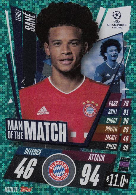 #MOTM16 Leroy Sané (FC Bayern München) Match Attax EXTRA 2020/21 MAN OF THE MATCH