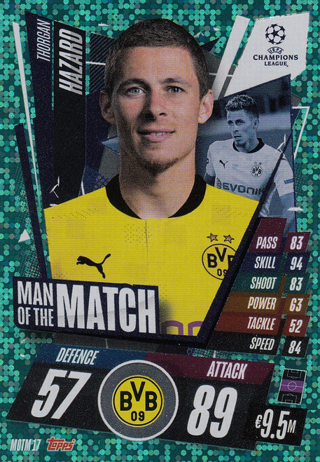 #MOTM17 Thorgan Hazard (Borussia Dortmund) Match Attax EXTRA 2020/21 MAN OF THE MATCH