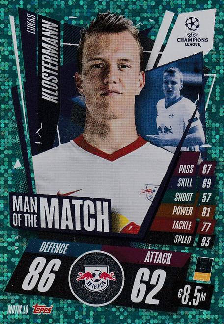 #MOTM18 Lukas Klostermann (RB Leipzig) Match Attax EXTRA 2020/21 MAN OF THE MATCH
