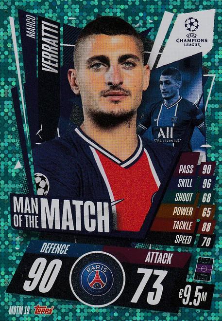 #MOTM19 Marco Verratti (Paris Saint-Germain) Match Attax EXTRA 2020/21 MAN OF THE MATCH