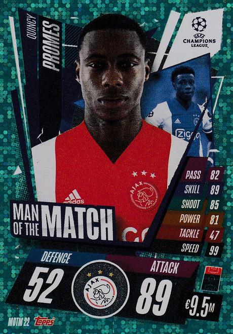 #MOTM22 Quincy Promes (AFC Ajax) Match Attax EXTRA 2020/21 MAN OF THE MATCH
