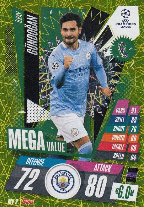 #MV2 Ilkay Gündogan (Manchester City) Match Attax EXTRA 2020/21 MEGA VALUE