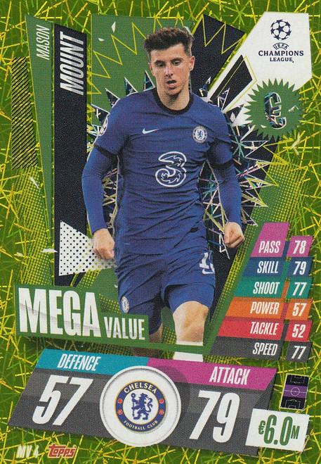 #MV4 Mason Mount (Chelsea) Match Attax EXTRA 2020/21 MEGA VALUE