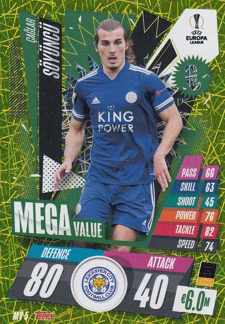 #MV5 Caglar Söyüncü (Leicester City) Match Attax EXTRA 2020/21 MEGA VALUE