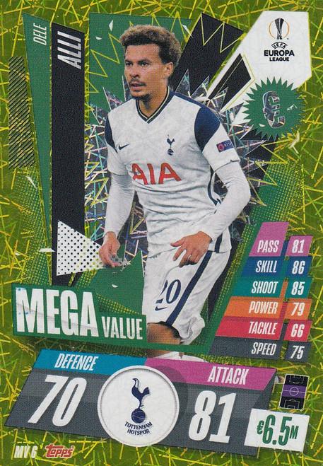 #MV6 Dele Alli (Tottenham Hotspur) Match Attax EXTRA 2020/21 MEGA VALUE