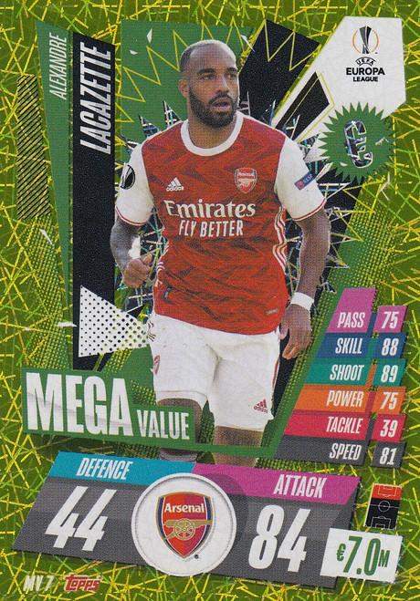 #MV7 Alexandre Lacazette (Arsenal) Match Attax EXTRA 2020/21 MEGA VALUE