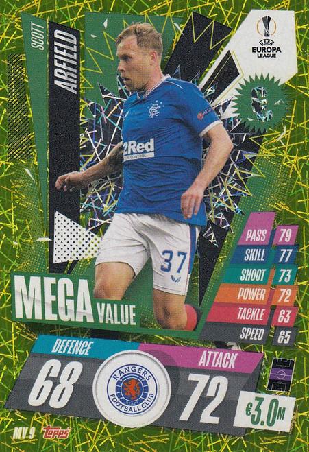 #MV9 Scott Arfield (Rangers) Match Attax EXTRA 2020/21 MEGA VALUE