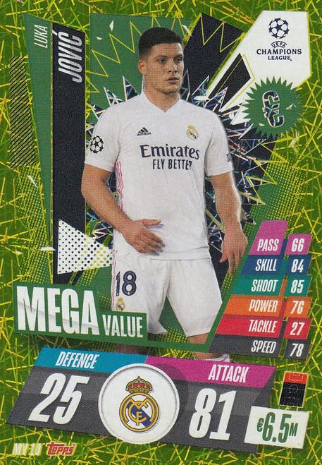 #MV10 Luka Jóvic (Real Madrid CF) Match Attax EXTRA 2020/21 MEGA VALUE