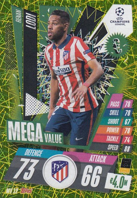 #MV12 Renan Lodi (Atlético de Madrid) Match Attax EXTRA 2020/21 MEGA VALUE
