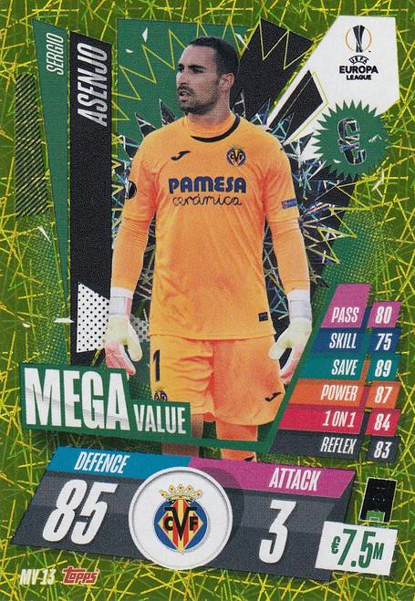 #MV13 Sergio Asenjo (Villarreal CF) Match Attax EXTRA 2020/21 MEGA VALUE