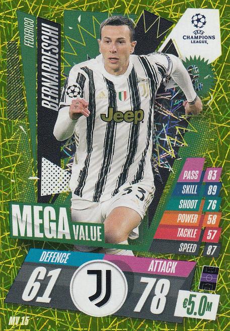 #MV15 Federico Bernardeschi (Juventus) Match Attax EXTRA 2020/21 MEGA VALUE