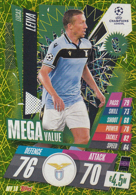 #MV18 Lucas Leiva (SS Lazio) Match Attax EXTRA 2020/21 MEGA VALUE