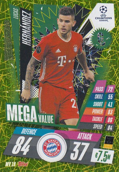 #MV19 Lucas Hernández (FC Bayern München) Match Attax EXTRA 2020/21 MEGA VALUE