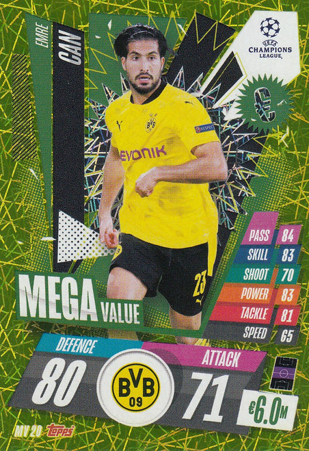 #MV20 Emre Can (Borussia Dortmund) Match Attax EXTRA 2020/21 MEGA VALUE