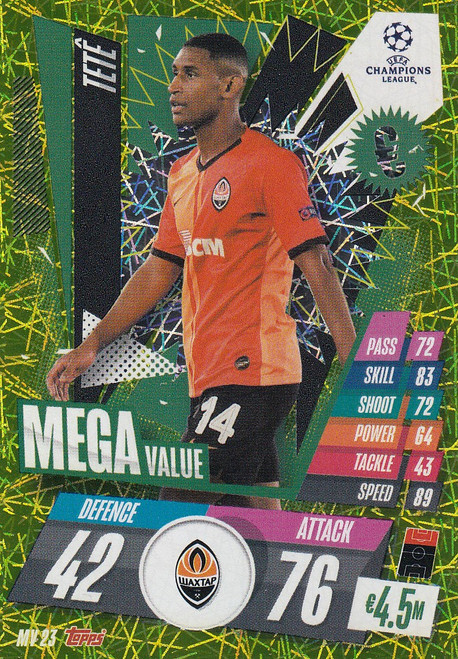 #MV23 Tete (FC Shakhtar Donetsk) Match Attax EXTRA 2020/21 MEGA VALUE