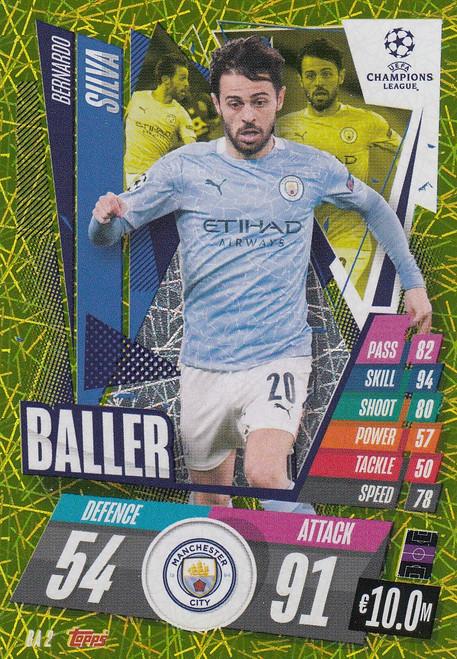#BA2 Bernardo Silva (Manchester City) Match Attax EXTRA 2020/21 BALLER