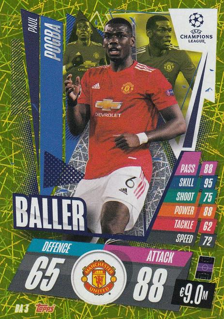 #BA3 Paul Pogba (Manchester United) Match Attax EXTRA 2020/21 BALLER