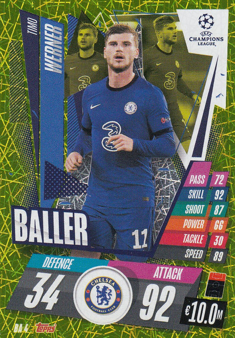 #BA4 Timo Werner (Chelsea) Match Attax EXTRA 2020/21 BALLER