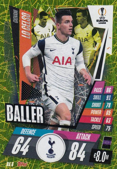 #BA6 Giovani Lo Celso (Tottenham Hotspur) Match Attax EXTRA 2020/21 BALLER
