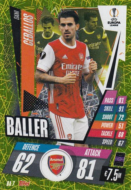 #BA7 Dani Ceballos (Arsenal) Match Attax EXTRA 2020/21 BALLER