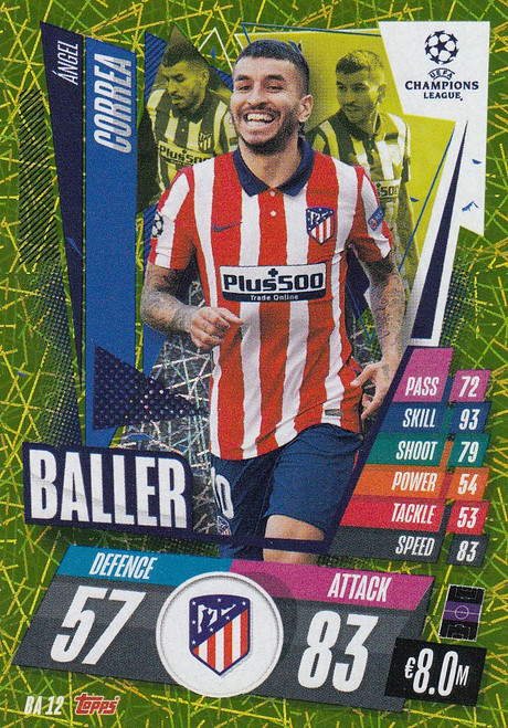 #BA12 Ángel Correa (Atlético de Madrid) Match Attax EXTRA 2020/21 BALLER