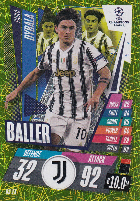 #BA13 Paulo Dybala (Juventus) Match Attax EXTRA 2020/21 BALLER